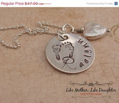 christmasinjuly ON SALE Personalized by MotherDaughterJewel, $42.30 Hand Stamped Jewelry for the New Mom