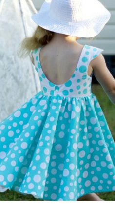 Tadah Tea party dress with scoop back Baby Girl Dress Patterns, Little Dresses, Little Girl Dresses, Girls Dresses, Toddler Dress, Baby Dress, Kids Frocks, Frock Design, Kids Outfits
