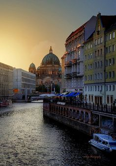 River Spree with Berlin Cathedral - Berlin, Germany