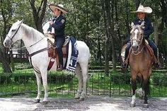 alameda park mexico city - Google Search. Police on horseback dress as Charros