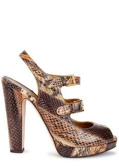 Alexander McQueen tonal brown ayers sandals - Harvey Nichols
