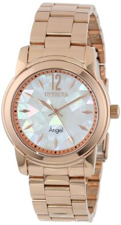 Invicta Women's 12624 Angel White Oyster Dial 18k Rose Gold Ion-Plated Stainless Steel Watch Invicta http://www.amazon.com/dp/B00AH3AZ5A/ref=cm_sw_r_pi_dp_JI6yub0T7K133