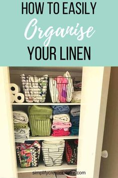 Sick of not being able to find anything and having linen everywhere? I share my top tips for linen cupboard organisation and my Kmart basket linen makeover. Get your linen closet organised in a flash with these simple changes Linen Closet Organization, Home Organisation, Organization Hacks, Bathroom Organization, Organizing Ideas, Linen Cupboard, How To Fold Towels, Laundry Decor, Quilt Cover Sets