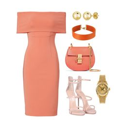 """Orange *** (ms)"" by ale-pink5 ❤ liked on Polyvore featuring Yigal AzrouÃ«l, Giuseppe Zanotti, Chloé, Rolex, BERRICLE and Vanessa Mooney"