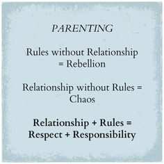 The best rule to parent children summed up in the following three lines: