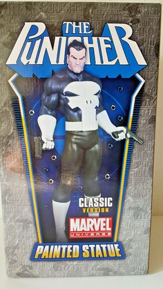 """BOWEN DESIGNS MARVEL """"THE PUNISCHER"""" Stands over 12 Inches Strictly Limited Neu! Punisher, Comic, Marvel Universe, Statue, Baseball Cards, Classic, Stuff To Buy, Painting, Ebay"""