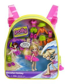 Mattel Polly Pocket Hawaiian Holiday Travel Backpack 2013 Toy for sale online Baby Dolls For Kids, Little Girl Toys, Baby Girl Toys, Toys For Girls, Baby Play House, Princess Doll House, Polly Pocket World, Disney Store Toys, Mermaid Tails For Kids