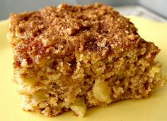 Pineapple Coffee Cake  *use apricots for the person who asked :)