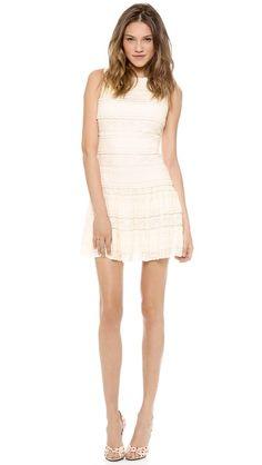 alice + olivia Chap Drop Waist Lace Dress