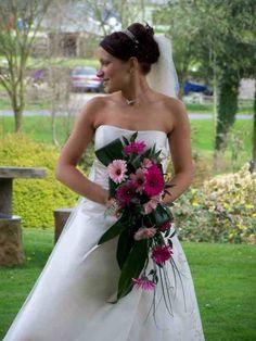 Gerbera cascading bouquet