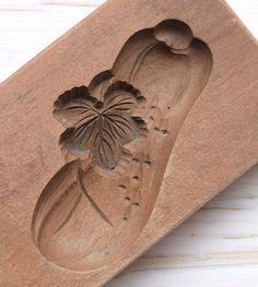 Japanese Antique Kashigata Cucumber and Leaf Hand Carved Wooden Cake Mold | eBay