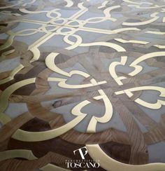 Teak parquet flooring / marble / oiled / natural stone inlaid CALIMALA ot01 Parchettificio Toscano Srl