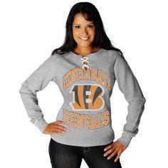 NFL Womens Cincinnati Bengals Ot Queen III Long Sleeve Raglan Open Neck Fleece (Steel Heather/Antique White, Medium) NFL,http://www.amazon.com/dp/B00854TIBK/ref=cm_sw_r_pi_dp_e5nHsb13M6FEW6KQ