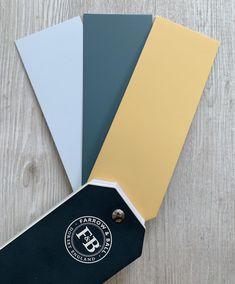 Colour scheme idea F&B Skylight Inchyra Blue and Sudbury Yellow 51 Office Wall Colors, Office Color Schemes, Interior Wall Colors, Room Color Schemes, Room Paint Colors, Living Room Colors, Bedroom Colors, Yellow Playroom, Yellow Kids Rooms