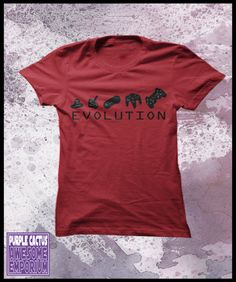 Gamer t shirt womens - Evolution of game controllers. $25.50, via Etsy.