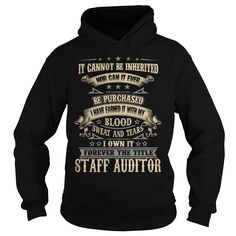 STAFF AUDITOR T-Shirts, Hoodies. CHECK PRICE ==► https://www.sunfrog.com/LifeStyle/STAFF-AUDITOR-91901212-Black-Hoodie.html?id=41382