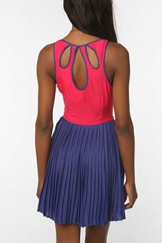 Cooperative Silky Colorblock Pleated Skirt Dress - Urban Outfitters