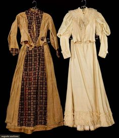 Day Dresses (image 1)   1900   velvet, wool, silk, lace   Augusta Auctions   May 11, 2016/Lot 2110