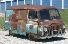 Vintage Vans, Vintage Trucks, Old Trucks, Gmc Vans, Ford Anglia, Day Van, Chevy Van, Rusty Cars, Cool Vans