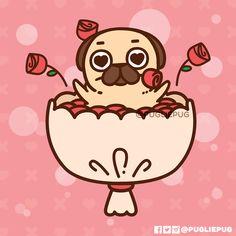 Puglie Pug — Happy Valentine's Day! Friends, family,...