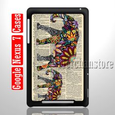 Elephant art  newspaper Google Nexus 7 Case