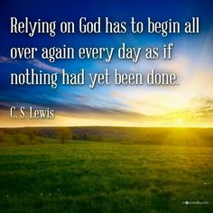 C.S. Lewis Relying on God