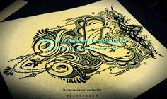 RESERVED LISTING for Yukinator  Customized Tattoo by Behennaed  cover-up, henna, mehndi, custom tattoo design, #behennaed