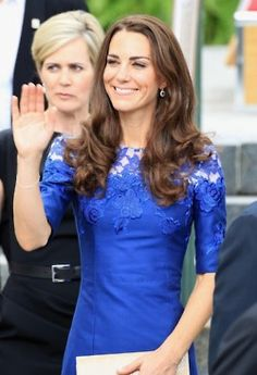 Royal Blue Dress for Princess Kate