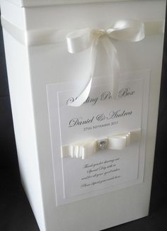 PERSONALISED WEDDING POST BOX / WISHING WELL - ALL COLOURS