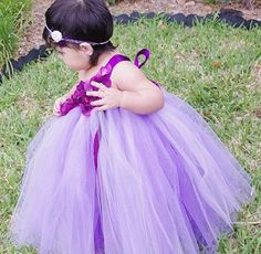 Purple Dreams Tutu Dress (Flower Girl, Birthday, Wedding)  by FloppyBunnyBoutique, $45.00