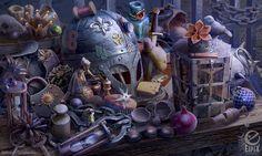 Hidden object scene - Bailiffs table by aleksandr-osm on DeviantArt