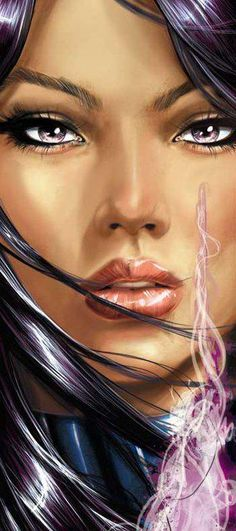 """Psylocke ✮✮""""Feel free to share on Pinterest"""" ♥ღ www.unocollectibles.com"""