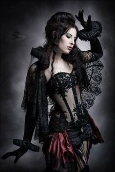 Sexy dark Victorian lingerie