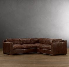 Collins Leather Corner Sectional With Nailheads | Collins | Restoration Hardware