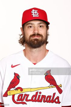 Andrew Miller of the St. Louis Cardinals poses for a photo on Photo Day at Roger Dean Chevrolet Stadium on February 2020 in Jupiter, Florida. Get premium, high resolution news photos at Getty Images