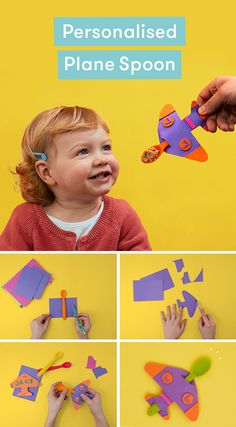 No more pretending - make their spoon into a personalized plane! All You Need Is, Foam Sheets, Play Ideas, Cooking With Kids, Scissors, Plane, Food To Make, Spoon, Good Food
