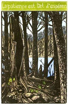 Patience | Kenspeckle Letterpress Deep Forest, Dear Friend, Take Care Of Yourself, First World, 21st Century, Letterpress, Patience, Note Cards, Old Things