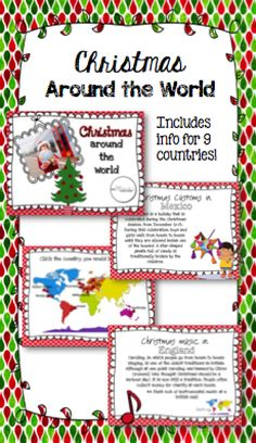 Christmas Around the World Set: includes interactive PDF and worksheet for 9 countries! $