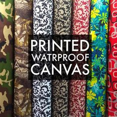 "Printed Canvas Fabric Waterproof Outdoor 60"" wide 600 Denier per yard  Make outdoor cushions/pillows for deck patio"