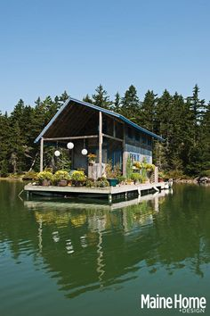 Maine floating cabin is 240 square feet of summer heaven   Spaces - Yahoo Homes  Sweet space, well done and built Foy and Louisa Brown