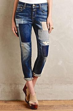NEW Anthropologie relaxed skinny Closed Jaker Patchwork Denim Jeans 26 $339 #Closed #28