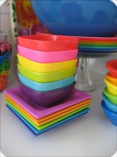 Colorful Stoneware Dinnerware | colorful dishes