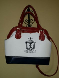 A beautiful red, white and blue bag available @ The Boutique US Fashion Truck