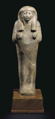 Alabaster shabti. New Kingdom. 18th dynasty. 1550-1307 B.C. | Christie's
