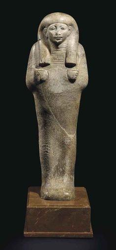 Alabaster shabti. New Kingdom. 18th dynasty. 1550-1307 B.C.   Christie's