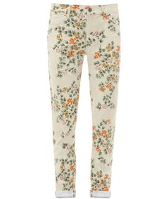 MANDY HIGH-WAISTED STRAIGHT LEG FLORAL JEANS, CITIZENS OF HUMANITY