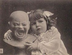I could pin these scary things all day long! There are so many! That child is NOT enjoying her dolly!!