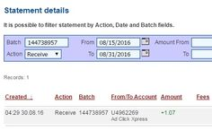I am getting paid daily at ACX and here is proof of my latest withdrawal. This is not a scam and I love making money online with Ad Click Xpress. Join for FREE and get 20$ + 10$ + 5$ Monsoon, Ad and Media value packs from ACX. My #9 Withdrawal Proof of online income from Ad Click Xpress.