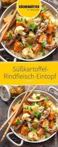Rezept für Süßkartoffel-Rindfleisch-Eintopf