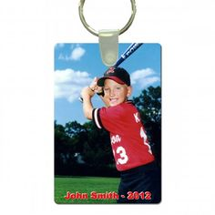 Create your own custom full color Rectangle Sports Key Tag with your favorite picture, mascot and text. Custom Key Tags make a great gift for mom, coach gifts, sponsor gifts and player gifts.  Give your team, MVP Players or coaches a special gift. Custom Key Tags are full color, personalized key tags that are strong and can include their name, photo, team's name, mascot or other text.